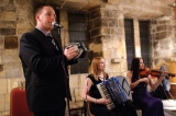 FiddlersWreck Ceilidh Band playing at the Hospitium